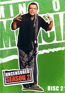 Carlos Mencia autographed Mind of Mencia DVD insert