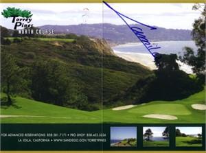Camilo Villegas autographed Torrey Pines golf scorecard