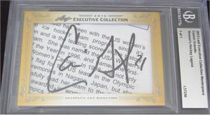 Cammi Granato certified autograph 2013 Leaf Executive Masterpiece Cut Signature card #1/1