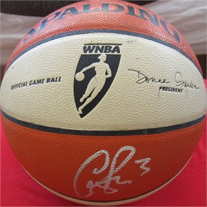 Candace Parker autographed Los Angeles Sparks game or practice used WNBA game model basketball