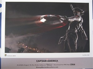 Captain America 2 The Winter Soldier 2014 Comic-Con exclusive Marvel 11x14 lithograph #/5000