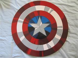 Captain America 2016 Comic-Con Ultron Revolution promo shield