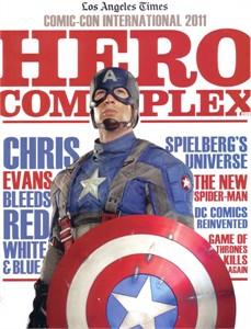 Captain America movie 2011 Comic-Con Hero Complex LA Times magazine (Chris Evans)