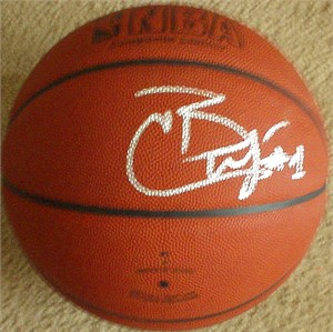 Carlos Boozer autographed NBA basketball