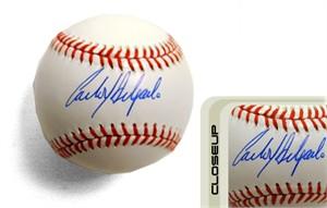Carlos Delgado autographed Rawlings MLB baseball