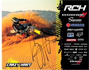 Carey Hart autographed 8x10 motocross or supercross promo photo