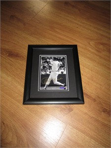 Carl Yastrzemski autographed Boston Red Sox 5x7 photo matted & framed UDA