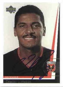Carlos Llamosa autographed 1999 MLS D.C. United card