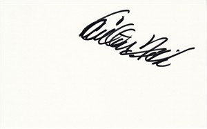 Carlton Fisk autographed index card