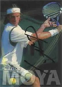 Carlos Moya autographed 2000 ATP Tour tennis card