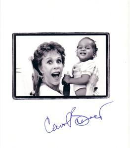 Carol Burnett autographed 10x10 photo