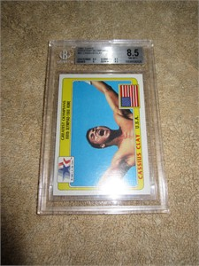 Cassius Clay (Muhammad Ali) 1983 Topps Greatest Olympians card graded BGS 8.5 (NrMt-Mt++)