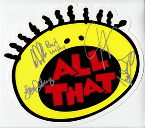 Cast autographed All That Splat 2016 Comic-Con logo (Kel Mitchell)