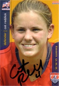 Cat Reddick autographed 2004 U.S. Soccer card like element