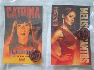 Catrina & Melissa Santos Lucha Underground 2016 Comic-Con photo cards with buttons or pins