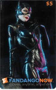 Catwoman 2016 Comic-Con Fandango Now plastic promo card