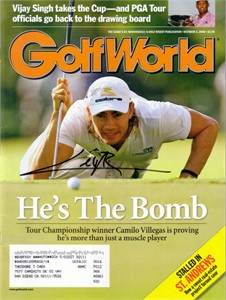 Camilo Villegas autographed 2008 Golf World magazine