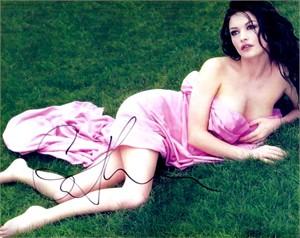 Catherine Zeta-Jones autographed 8x10 photo