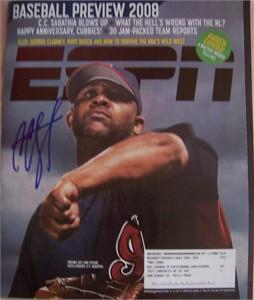 CC Sabathia autographed Cleveland Indians 2008 ESPN Magazine