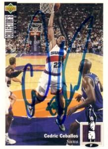 Cedric Ceballos autographed Phoenix Suns 1994-95 Upper Deck card