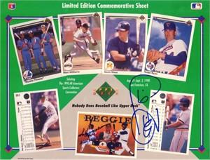 Cecil Fielder autographed Detroit Tigers 1990 Upper Deck card sheet