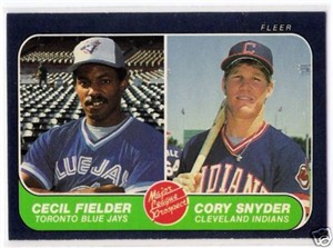 Cecil Fielder 1986 Fleer Rookie Card #653