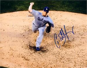 Chad Billingsley autographed Los Angeles Dodgers 8x10 photo
