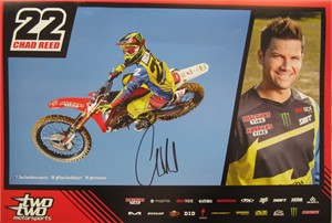Chad Reed autographed Shift Two Two supercross promotional poster
