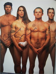 Chad Smith autographed Red Hot Chili Peppers 11x14 Rolling Stone book photo