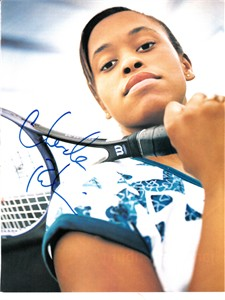 Chanda Rubin autographed full page tennis magazine photo