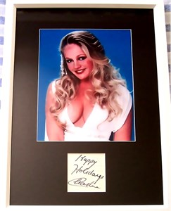 Charlene Tilton autograph matted & framed with sexy 8x10 photo