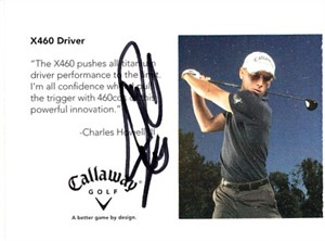 Charles Howell autographed 2006 Callaway Golf promo card