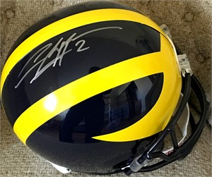 Charles Woodson autographed Michigan Wolverines full size helmet (Schwartz Sports)