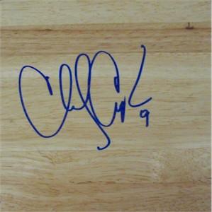 Chucky Atkins autographed 6x6 basketball hardwood floor