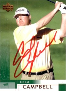 Chad Campbell autographed 2002 Upper Deck golf card
