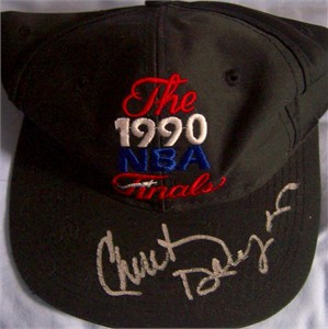 Chuck Daly autographed 1990 NBA Finals cap or hat