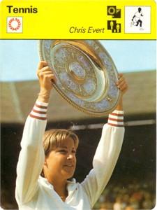 Chris Evert 1977 Sportscaster Rookie Card
