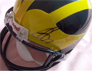 Chad Henne autographed Michigan Wolverines mini helmet