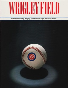 Chicago Cubs Wrigley Field First Night Game 1988 program