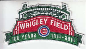 Chicago Cubs 2014 Wrigley Field 100 Years authentic embroidered jersey sleeve patch