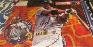 Chipper Jones autographed Atlanta Braves Fathead lifesize decal poster