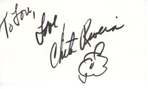 Chita Rivera autographed 3x5 index card (personalized) JSA