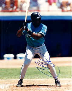 Charles Johnson autographed Florida Marlins 8x10 photo