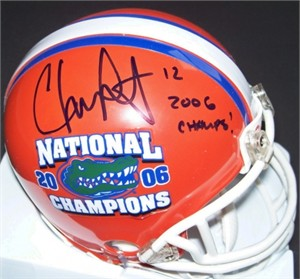 Chris Leak autographed Florida Gators 2006 National Champions mini helmet inscribed 2006 Champs