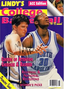 Cherokee Parks autographed Duke Blue Devils 1994-95 Lindy's annual magazine cover
