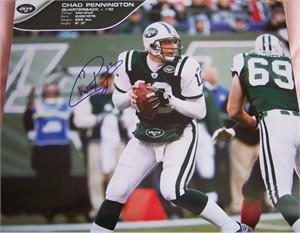 Chad Pennington autographed New York Jets calendar page