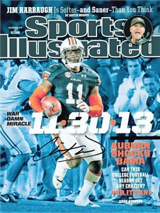 Chris Davis autographed Auburn Tigers Kick Six 2013 Sports Illustrated cover