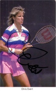 Chris Evert autographed 1987 Fax Pax tennis card