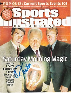 Chris Fowler autographed ESPN GameDay 2003 Sports Illustrated On Campus magazine