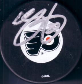 Chris Pronger autographed Philadelphia Flyers puck